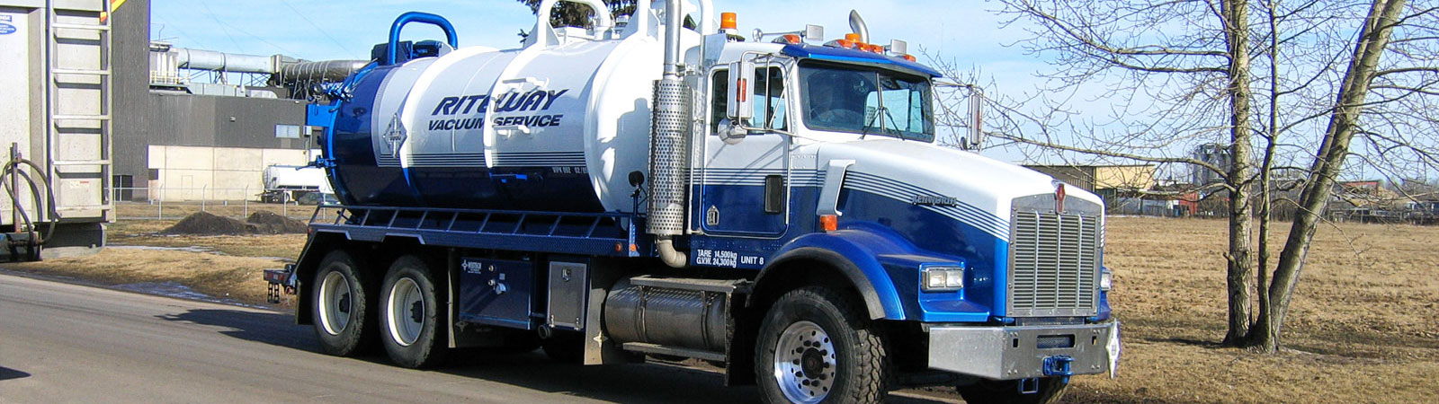 tandem vac truck for sewage hauling in Edmonton