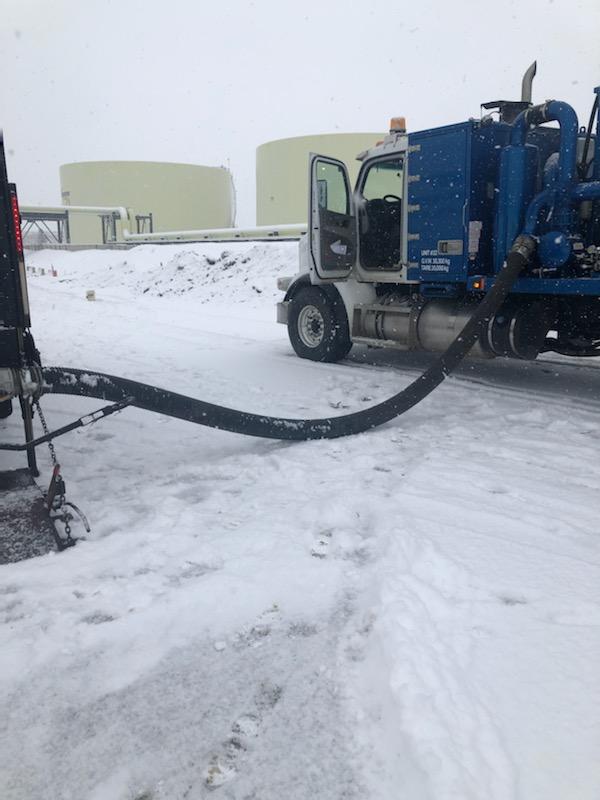 Vapour Scrubber in Action with Riteway Vacuum Service Vacuum Trucks in Edmonton